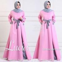 Baju Pakaian Wanita Gamis Maxi Lucia Dress Pink