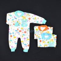 LIBBY Baju Kodok Panjang / Jumpsuit Rib Bayi/Baby Motif (0-3M)