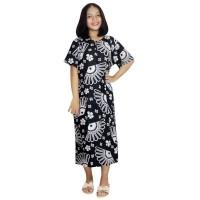 Daster Batik Lengan Pendek Leher Kerut Motif Monochrome FL-1373-NP