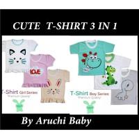 Aruchi Tshirt Bayi Kaos Baby Premium FL-0183-NP