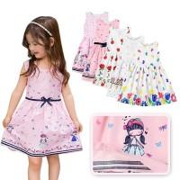 Dress Princess Anak Perempuan Lucu Tanpa Lengan untuk FL-3812-NP