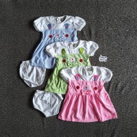 Dress Pendek Bayi Rifky Pita Kucing FL-3432-NP
