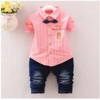 babyfit NUMBER EIGHT setelan baju anak cowok kemeja kaos FL-0004-NP