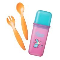 Tommee Tippee Sendok Makan Travel Cutlery Set Orange - 430749