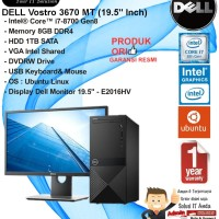 DELL Vostro 3670 Intel Core i7-8700/8GB/1TB/DVDRW/DOS/1YR + E2016HV