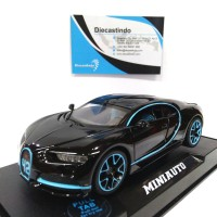 MiniAuto Bugatti Chiron, Hitam - Skala 1:32