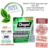 Orajel Triple Medicated Instant Pain Relief for Denture Pain 7,0 g