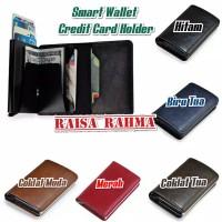 Dompet Kartu Smart Wallet Credit Card Holder Metal Case RFID