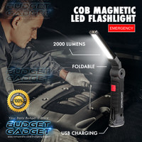 Senter COB LED Magnetic 2000 Lumens Lampu Lipat
