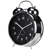 "Twin Bell Alarm Clock 8"" Chrome"