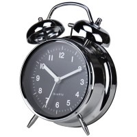 "Twin Bell Alarm Clock 4"" Chrome"