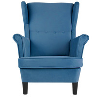 Luella Armchair Blue Fabric