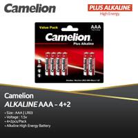 Camelion Baterai Alkaline AAA 4 + 2   Baterai Alkaline A3 Isi 6