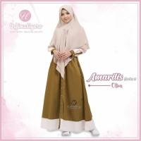 Urfimutiyaro Amarilis Dress OLIVE GAMIS ONLY TOYOBO MUSLIMAH