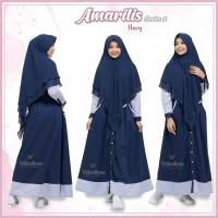 Urfimutiyaro Amarilis Dress NAVY GAMIS ONLY TOYOBO MUSLIMAH