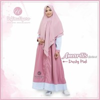 Urfimutiyaro Amarilis Dress DUSTY PINK GAMIS ONLY TOYOBO MUSLIMAH