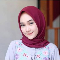 Hijab Segi Empat Polos Jilbab Bella Square Laudya segiempat Scarf Kain