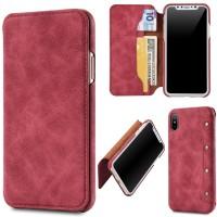 2e23b87c2 Luxury Leather Case For iPhone X 8 7 6 Plus Retro Flip Card Holder