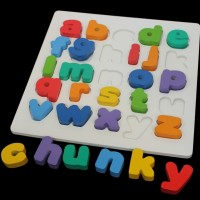 chunky puzzle huruf kecil abjad mainan anak seru kayu edukasi edukatif