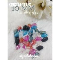 36pcs mix kristal tetes 10mm