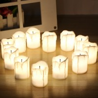 New Style 12Pcs LED Tea Light Candle Tea Light Flameless Flickering