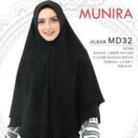 Hijab Khimar Syari 2Layer Crepe Nayumi Pet Antem Original Munira MD 32