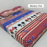 Sprei Homemade Karakter Anak SIZE 90 X 200 Motif Mickey USA