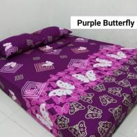 Sprei Homemade Karakter Anak SIZE 200 X 200 Motif purple butterfly