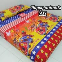 Sprei Homemade Karakter Anak SIZE 90 X 200 happy animals