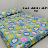 Sprei Homemade Karakter Anak SIZE 180 X 200 blue bable kitty