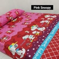 Sprei Homemade Karakter Anak SIZE 90 X 200 Motif Pink Snoopy