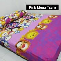 Sprei Homemade Karakter Anak SIZE 90 X 200 Motif pink mega tsum tsum