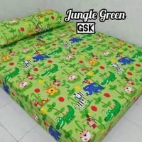 Sprei Homemade Karakter Anak SIZE 90 X 200 Motif Jungle Green