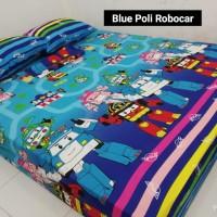 Sprei Homemade Karakter Anak SIZE 90 X 200 Blue Poli Robocar