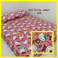Sprei Homemade Karakter Anak SIZE 90 X 200 Motif red kitty sweet