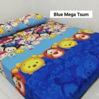 Sprei Homemade Karakter Anak SIZE 160 X 200 blue mega tsum tsum