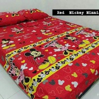 Sprei Homemade Karakter Anak SIZE 120 X 200 Motif Red Mickey MIni