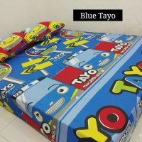 Sprei Homemade Karakter Anak SIZE 90 X 200 blue tayo