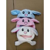 Topi Kelinci Rabbit Bunny Hat Dance IMPORT Telinga bisa Bergerak