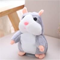 Boneka Talking Hamster Import Bisa Bicara Peniru Suara 18cm