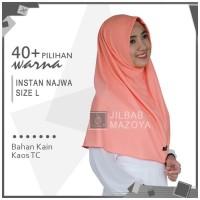 Jilbab Instan Najwa L / Hijab Kaos Bergo Najwa Polos Size L Paling