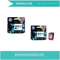 HP 802 Small Black dan colour Ink Cartridge - Original -1 set