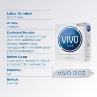Terhits Sensitif Kondom Vivo 0,03