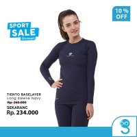 Tiento Baselayer Rashguard Manset Olahraga Wanita Long Sleeve Navy