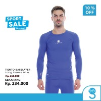 Tiento Baselayer Rashguard Manset Olahraga Pria Long Sleeve Blue Men