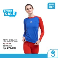 Tiento Baselayer Manset Olahraga Wanita Long Sleeve Blue Red Women