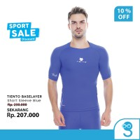 Tiento Baselayer Manset Baju Olahraga Pria Short Sleeve Sport Blue Men