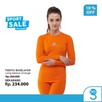 Tiento Baselayer RashGuard Manset Olahraga Wanita Long Sleeve Orange