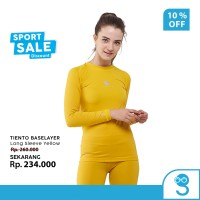 Tiento Baselayer RashGuard Manset Olahraga Wanita Long Sleeve Yellow