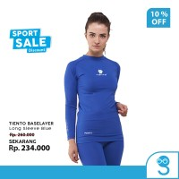 Tiento Baselayer Rashguard Manset Olahraga Wanita Long Sleeve Blue